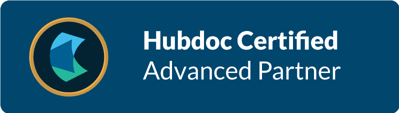 HubDoc Certification Advanced Partner Badge